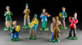 Art Glass:Other , Eight Czech Fused Glass Musician Figures. Mid-20th century. Ht.8-1/4 in. (largest). ... (Total: 8 Items)