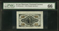 Fractional Currency, Fr. 1255SP 10¢ Third Issue Wide Margin Face PMG Gem Uncirculated 66.. ...