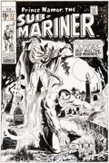 Original Comic Art:Covers, Marie Severin and Frank Giacoia Sub-Mariner #22 Cover Doctor Strange Original Art (Marvel, 1970)....