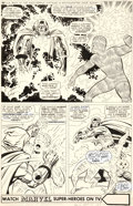 Original Comic Art:Panel Pages, Jack Kirby and Joe Sinnott Fantastic Four #58 Story Page 17Doctor Doom Original Art (Marvel, 1967)....