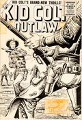 Original Comic Art:Covers, Joe Maneely Kid Colt Outlaw #53 Cover Original Art (Marvel, 1955)....