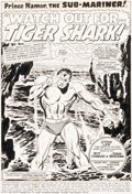 Original Comic Art:Splash Pages, John Buscema and Frank Giacoia Sub-Mariner #5 Splash Page 1 Original Art (Marvel, 1968)....