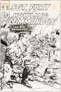 Original Comic Art:Covers, Dick Ayers and John Severin Sgt. Fury and His Howling Commandos #61 Cover Original Art (Marvel, 1968)....