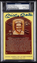 Autographs:Sports Cards, Signed Mickey Mantle Hall of Fame Plaque PSA/DNA Authentic....
