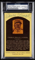 Autographs:Sports Cards, Signed Casey Stengel Hall of Fame Plaque Postcard PSA/DNAAuthentic. ...