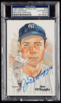 Autographs:Sports Cards, 1980 Joe DiMaggio Signed Perez-Steele Postcard #75 PSA/DNAAuthentic. ...