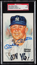 Autographs:Post Cards, Signed Mickey Mantle 1981 Perez Steele Post Card #145 SGCAuthentic. ...