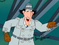 Animation Art:Production Cel, Inspector Gadget Production Cel, Drawing, and Painted MasterBackground with Don Adams Signature (DIC, 1983).... (Total: 4Items)