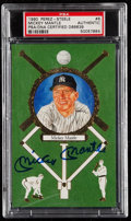 Autographs:Post Cards, Signed 1990 Perez Steele Master Works Mickey Mantle Post Card #8PSA/DNA Authentic. ...
