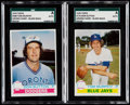 Baseball Cards:Lots, 1979 Topps Wrong Name - Blank Back Proof SGC Authentic Pair - DonSutton & Tom Murphy....