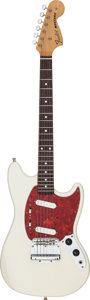 Musical Instruments:Electric Guitars, 2002 Fender Mustang White Solid Body Electric Guitar, Serial # T028877....