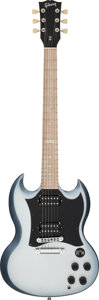Musical Instruments:Electric Guitars, 2009 Gibson SG Silverburst Solid Body Electric Guitar, Serial #011791417....