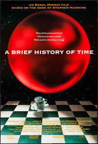 "A Brief History of Time (Triton, 1991). One Sheet (27"" X 40"") DS. Documentary"