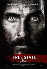 """Free State of Jones & Other Lot (STX, 2016). One Sheets (2) (Approximately 27"""" X 40"""") DS Advance. Action..."""