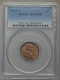 Lincoln Cents: , 1923-S 1C MS63 Red and Brown PCGS. PCGS Population: (122/213). NGC Census: (47/79). CDN: $525 Whsle. Bid for problem-free N...