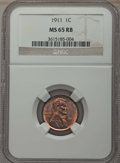 Lincoln Cents: , 1911 1C MS65 Red and Brown NGC. NGC Census: (81/5). PCGS Population: (100/11). CDN: $150 Whsle. Bid for problem-free NGC/PC...