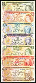 Canadian Currency, Bank of Canada Denomination Set 1971-79.. ... (Total: 7 notes)