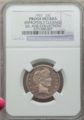 Proof Barber Quarters, 1907 25C -- Improperly Cleaned -- Details NGC. Proof. Ex: ANS Collection. NGC Census: (3/212). PCGS Population: (3/170)...