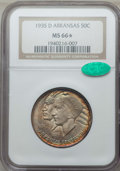 Commemorative Silver, 1935-D 50C Arkansas MS66 ★ NGC. CAC. NGC Census: (112/26 and 4/6*). PCGS Population: (228/48 and 4/6*). CDN: $350 Whs...