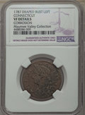1787 Connecticut Copper, Draped Bust Left, -- Corrosion -- Details NGC. VF. NGC Census: (59/353). PCGS Population: (88/4...