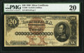 Large Size:Silver Certificates, Fr. 309 $20 1880 Silver Certificate PMG Very Fine 20.. ...