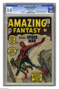 Amazing Fantasy #15 (Marvel, 1962) CGC GD/VG 3.0 Off-white pages. The Marvel Silver Age issue that all others are measur...