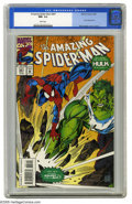 Modern Age (1980-Present):Superhero, The Amazing Spider-Man #381 (Marvel, 1993) CGC NM- 9.2 White pages. Hulk crossover. Mark Bagley cover and art. Overstreet 20...
