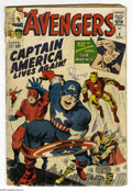 Silver Age (1956-1969):Superhero, Avengers #4 (Marvel, 1964) Condition: FR. First Silver Age appearance of Captain America, who joins the Avengers. Sub-Marine...