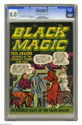 Golden Age (1938-1955):Horror, Black Magic #9 (Prize, 1952) CGC VF 8.0 Cream to off-white pages.Jack Kirby cover. George Roussos and Jerry Grandenetti art...