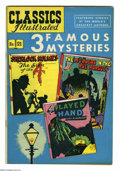 Golden Age (1938-1955):Classics Illustrated, Classics Illustrated #21 Three Famous Mysteries HRN 62 (Gilberton,1949) Condition: Qualified FN/VF. Features the short myst...