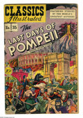 Golden Age (1938-1955):Classics Illustrated, Classics Illustrated #35 (Original Edition) Last Days of Pompeii(Gilberton, 1947) Condition: VG-. Title changed from Clas...