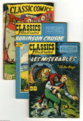 "Golden Age (1938-1955):Classics Illustrated, Classics Illustrated Group (Gilberton, 1946-48) Condition: AverageVG. Ten-issue group lot includes #9 (""Les Miserables,"" HR... (10Comic Books)"