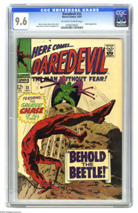 Daredevil #33 (Marvel, 1967) CGC NM+ 9.6 Off-white to white pages. Daredevil battles the Beetle. Gene Colan cover and ar...