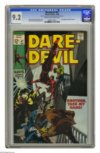 Daredevil #47 (Marvel, 1968) CGC NM- 9.2 Cream to off-white pages. First appearance of Willie Lincoln. Gene Colan cover...