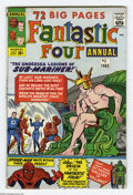 Silver Age (1956-1969):Superhero, Fantastic Four Annual #1 (Marvel, 1963) Condition: VG. The Sub-Mariner attacks the human race. Jack Kirby cover and art. Ear...
