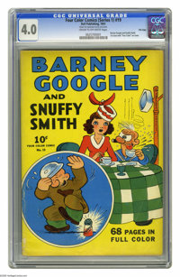 Four Color (Series One) #19 Barney Google and Snuffy Smith File Copy (Dell, 1941) CGC VG 4.0 Cream to off-white pages. O...