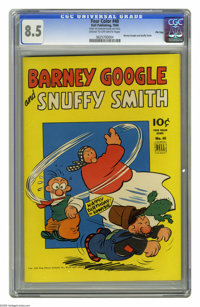 Four Color #40 Barney Google and Snuffy Smith File Copy (Dell, 1944) CGC VF+ 8.5 Cream to off-white pages. Features news...