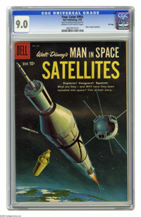Four Color #954 Man in Space-Satellites File Copy (Dell, 1959) CGC VF/NM 9.0 Cream to off-white pages. From the televisi...