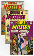 Silver Age (1956-1969):Horror, House of Mystery Group (DC, 1963-66) Condition: Average FN/VF.Eight-issue group includes #135, 145, 146, 147, 152, 153, 154... (8Comic Books)