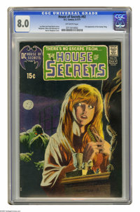 House of Secrets #92 (DC, 1971) CGC VF 8.0 Off-white pages. First appearance and origin of Swamp Thing. Bernie Wrightson...