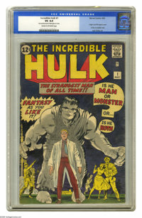 The Incredible Hulk #1 (Marvel, 1962) CGC VG 4.0 Cream to off-white pages. This classic first issue from Marvel features...
