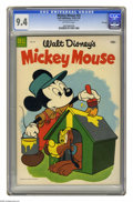 Golden Age (1938-1955):Funny Animal, Mickey Mouse #33 File Copy (Dell, 1954) CGC NM 9.4 Off-white pages.Overstreet 2005 NM- 9.2 value = $65. CGC census 8/05: 1 ...