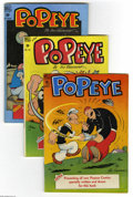 Golden Age (1938-1955):Cartoon Character, Popeye Group (Dell, 1948-49) Condition: Average FN+. Three-issuelot includes #2, 4, and 5 (Popeye on moon with rocket cover... (3Comic Books)