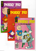 Bronze Age (1970-1979):Cartoon Character, Porky Pig Box Lot (Gold Key, 1965-82) Condition: Average VF. Full short box lot includes #3 (16 copies), 23 (14 copies), 28 ...