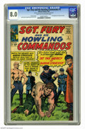 Silver Age (1956-1969):War, Sgt. Fury and His Howling Commandos #5 (Marvel, 1964) CGC VF 8.0 Light tan to off-white pages. First appearance of Baron Str...