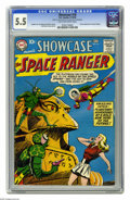 Silver Age (1956-1969):Science Fiction, Showcase #16 (DC, 1958) CGC FN- 5.5 Tan to off-white pages. Second appearance of Space Ranger. Bob Brown cover and art. Over...