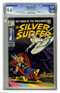Silver Age (1956-1969):Superhero, The Silver Surfer #4 (Marvel, 1969) CGC VF/NM 9.0 Cream to off-white pages. Thor battles the Silver Surfer. Cameos by the Hu...
