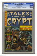 Golden Age (1938-1955):Horror, Tales From the Crypt #36 (EC, 1953) CGC FN/VF 7.0 Cream tooff-white pages. Jack Davis cover. Davis, George Evans, JackKame...