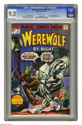 Bronze Age (1970-1979):Horror, Werewolf by Night #32 (Marvel, 1975) CGC NM- 9.2 Off-white pages.Origin and first appearance of Moon Knight (Marc Spector)....