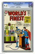 Silver Age (1956-1969):Superhero, World's Finest Comics #147 (DC, 1965) CGC NM- 9.2 Cream to off-white pages. Curt Swan and George Klein cover. Swan and Sheld...